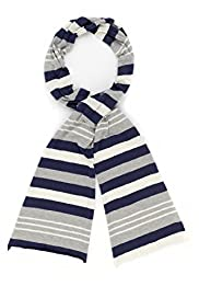 Per Una Cotton Rich Causal Striped Scarf
