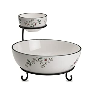 Pfaltzgraff Winterberry Chip and Dip Bowl with Wire Rack at Sears.com