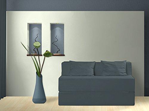 Schlafsofa, Carino, blaugrau, 135 cm günstig kaufen