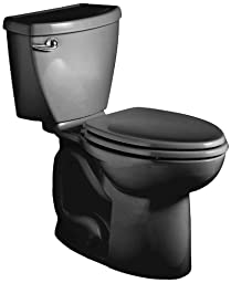 American Standard Cadet 3 Right Height Elongated Flowise Two-Piece High Efficiency Toilet with 12-Inch Rough-In, Black Black