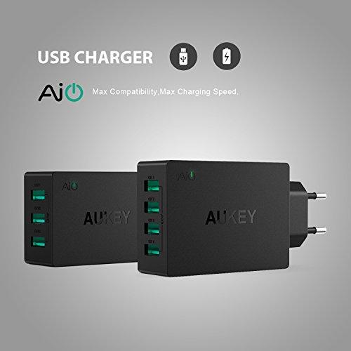 AUKEY-Cargador-USB-de-Pared-con-Tecnologa-AiPower-Enchufe-europeo-para-iPad-iPhone-y-otros-dispositivos-USB