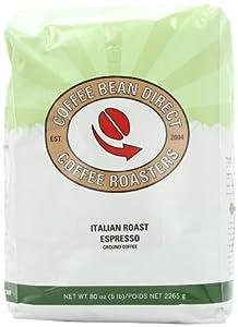 Coffee Bean Direct Ground Coffee, 5-Pound Bag