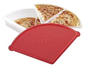 MICROWAVEABLE 2 TIER - 4 SLICE PIZZA KEEPER FOOD CONTAINER