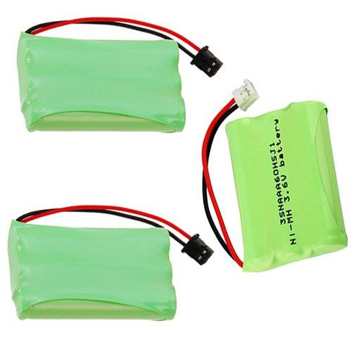Uniden BT446 Phone Battery 800mah + 2x Motorola 3SNAAA60HSJ1 Cordless Phone Battery