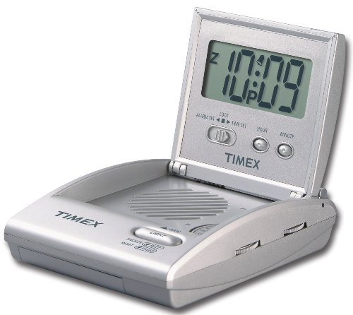 timex t315sx travel alarm clock radio silver cheap. Black Bedroom Furniture Sets. Home Design Ideas