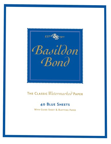 Basildon Bond Duke Writing Pad 178x137mm 90gsm 80 Pages 40 Sheets - Color: Blue