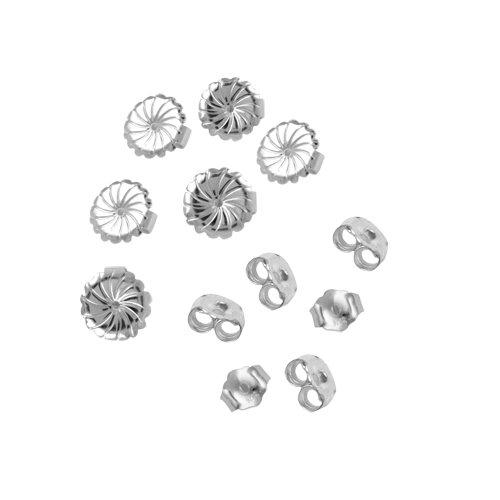 6-Pair Set of Sterling Silver Earring Backs (Earnuts)