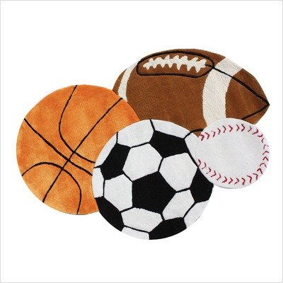 Kidspace Team Sports Kids Rug Size: 30