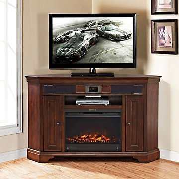 Hot Hot Hot Sale Belcourt Corner Fireplace Tv Stand Huge Discount
