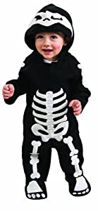 Romper Costume, Skeleton - Toddler (U.S.A. Size 2-4) For 1-2 Years