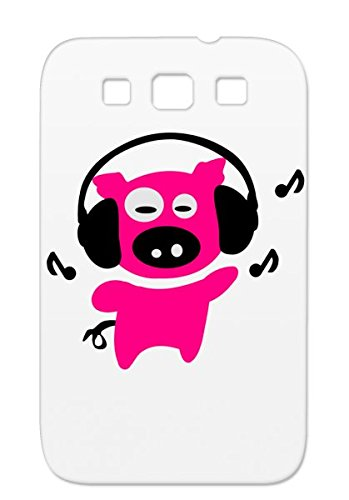 Shockproof Art Design Music Pig Illustration Art Piggy Vector Animation Headphones Animals Animation Cute Comic Anime Animal Graphic Pigc Note Farm Pink Funy With Cover Case For Sumsang Galaxy S3