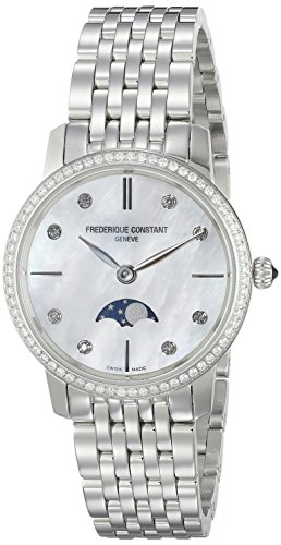 Frederique-Constant-Womens-FC206MPWD1SD6B-Slim-Line-Analog-Display-Swiss-Quartz-Silver-Watch