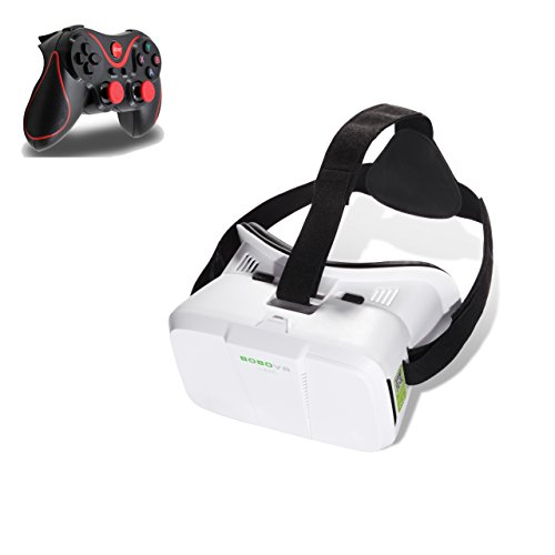 eimolife® 2015 NEW UPDATED! White Real HD 3d Experience Bluetooth Gamepad Rocker VIRTUAL REALITY CARDBOARD TOOLKIT...