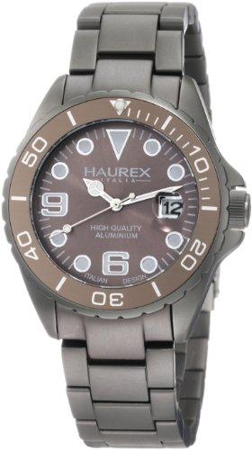 Haurex Italy 7K374UGG - Reloj para hombres, correa de aluminio color gris
