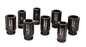 Ingersoll Rand SK6H8L 3/4-Inch Drive 8-Piece SAE Deep Impact Socket Set