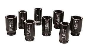 Ingersoll Rand SK6H8L 3/4-Inch Drive 8-Piece SAE Deep Impact Socket Set