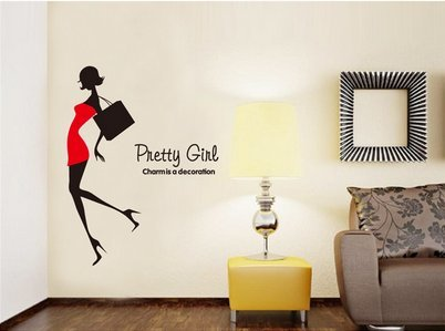 Fashion Girl Bedroom Cozy Decoration Wall Stickers front-835310