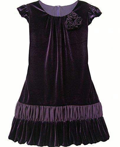 Violet Purple Cap Sleeve Drop Waist Dress - Isobella And Chloe 4T