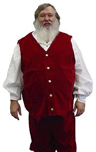Classic Velvet Santa Vest (XXXL - up to 72 inch chest or belly) [Apparel] (Velvet Santa Suit Costume)