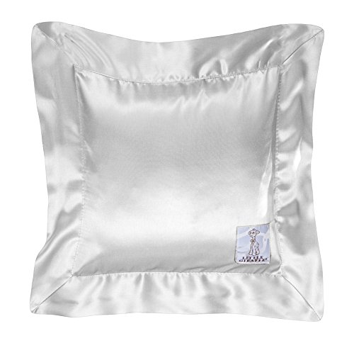 Little Giraffe Chenille Satin Pillow, Silver