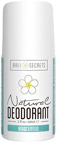 Bali Secrets Natural Deodorant - Organic & Vegan - Unscented for Women & Men - All Day Fresh - No Baking Soda - No Parabens - No Aluminum Chlorohydrate - 2 fl.oz/60ml (Baking Soda No Salt compare prices)