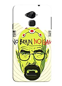 Blue Throat No Brain No Gain Printed Designer Back Cover/ Case For Coolpad Note 3