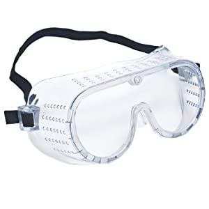 Crews 2220 Safety Goggles, Perforated Clear Lens - Cheap Chemistry
