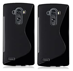 Wellmart Anti-Skid Soft TPU Back Case Cover for Lg G4 Note - Pack of 2