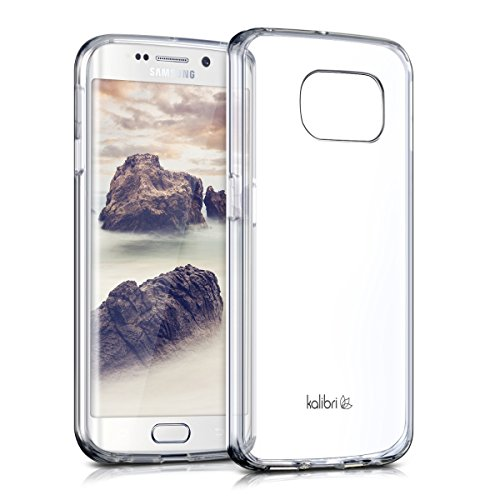 kalibri-Crystal-Case-Hlle-Sunny-fr-Samsung-Galaxy-S6-Edge-transparente-Kunststoff-Schutzhlle-mit-TPU-Silikon-Rahmen-in-Transparent
