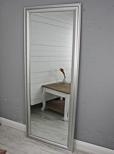 elbmbel-Wandspiegel-gro-in-silber-mit-schlichtem-Holz-Rahmen-150-x-60cm