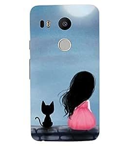 ColourCraft Cute Friends Design Back Case Cover for LG GOOGLE NEXUS 5X