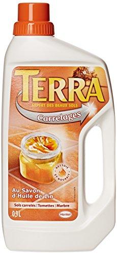 Terra-Produit-de-Lavage-pour-Carrelages-Savon-dHuile-de-Lin-Bouteille-09-L-Lot-de-2