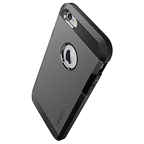 "Spigen SGP10971 Tough Armor Custodia per iPhone 6/4.7"", Argento (Satin Silver)"