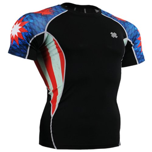 Fixgear Mens Womens Spandex Tight Running Compression Base Layer Shirts S ~ 2XL