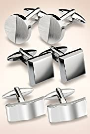 3 Pairs of Assorted Cufflinks [T09-4071-S]