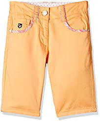 US Polo Girls Shorts (UGST5008_Orange_EXS )