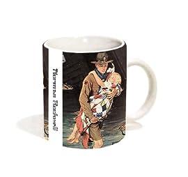 Norman Rockwell A Scout is Helpful (Boyscouts of America) Classic Americana Art Ceramic Gift Coffee (Tea, Cocoa) Mug