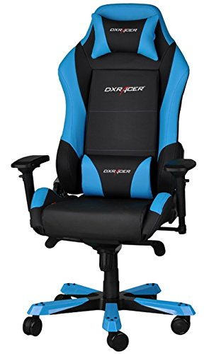 DX Racer Iron Gaming Chair - Blue and Black - OH/IF11/NB
