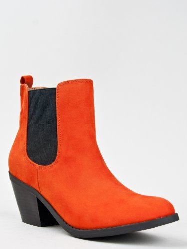 Qupid MUSE-63 Basic Pull On Stacked Heel Ankle Boot Bootie