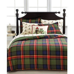 Stewart collection highland plaid twin comforter cover green blue red