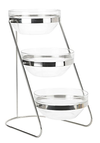 Winco TDS-3 3 Tier Glass Bowl Display Set (Glass Fruit Display compare prices)