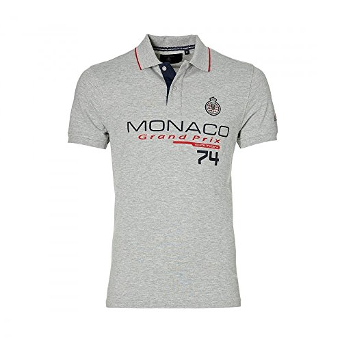 Grand Prix Monaco Racing by McGregor GP Monaco 2016 Mens Logo Polo grigio XXXL