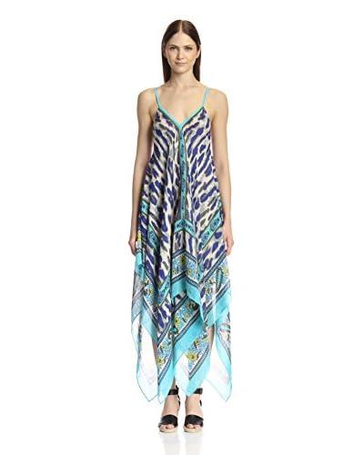 Theodora & Callum Women's Cheetah Paisley Scarf Dress