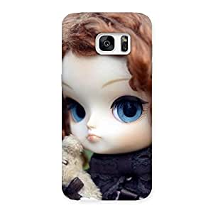 Impressive Teddy with Doll Back Case Cover for Galaxy S7 Edge