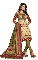 Govardhan Fashion being and green colour cottan Unstitched Dress Material