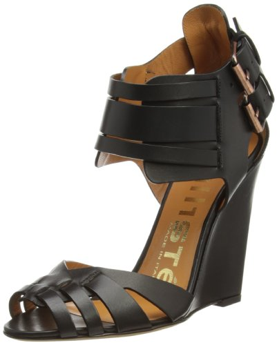 Kalliste Womens Fashion Sandals 5808 Black Calf 6 UK, 39 EU, 8 US