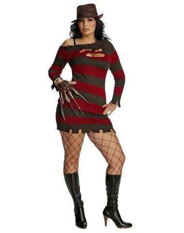 Rubies Costume Co Women's Miss Freddy Krueger Plus Size Costume (Scary Freddy Krueger Costume)