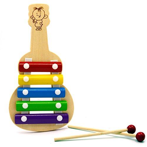 Mini-Holz-fnf-Tasten-Glockenspiel-Xylophon-Weisheit-Entwicklung-Musikinstrument