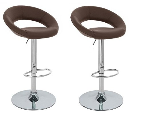 Tms 174 Set Of 2 Synthetic Leather Modern Adjustable Swivel