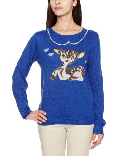 Yumi Original Deer Intarsia Jumper/Y02575 Women's